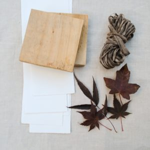 Eco-printing on paper tutorial