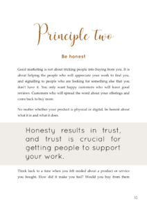 Principle two: Be honest